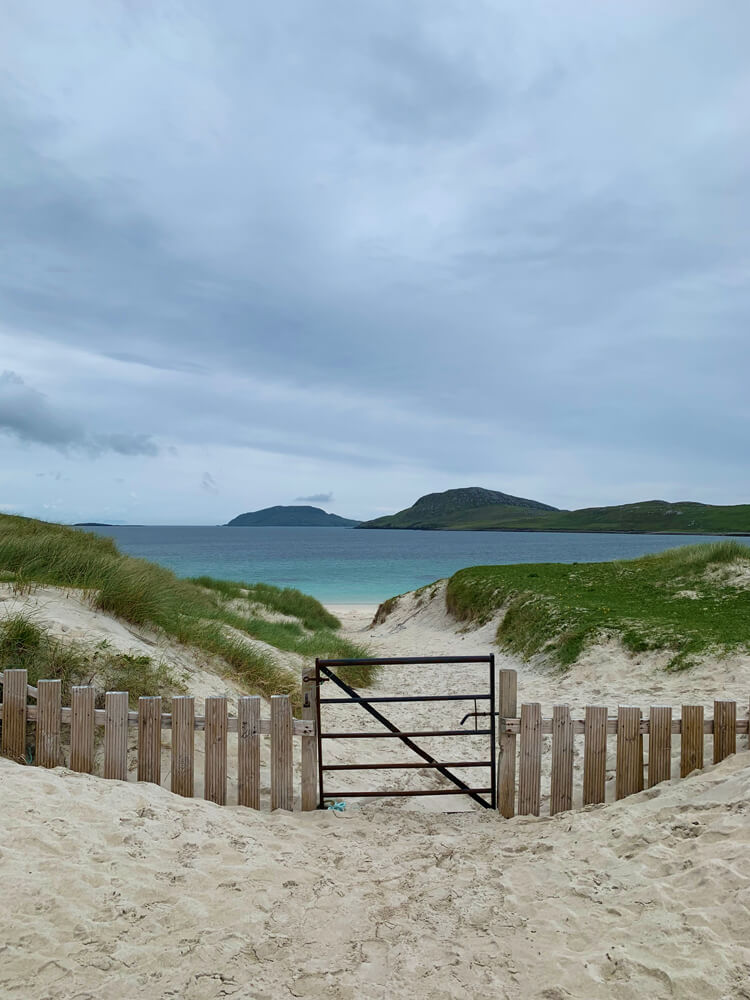 Beautiful white sands and turquoise waters on Vatersay.