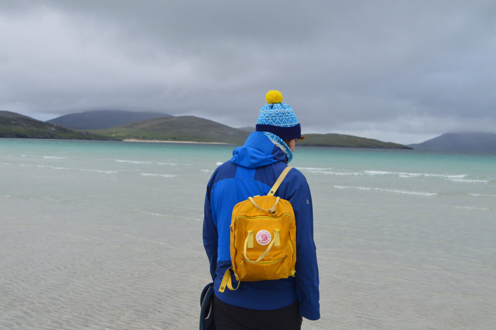 Eden hat on Luskentyre beach.