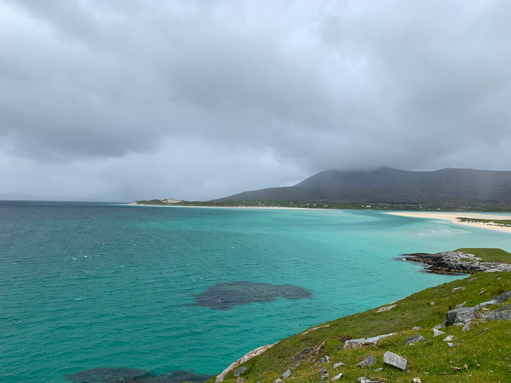 A view over Seilibost and Luskentyre beaches on Harris.