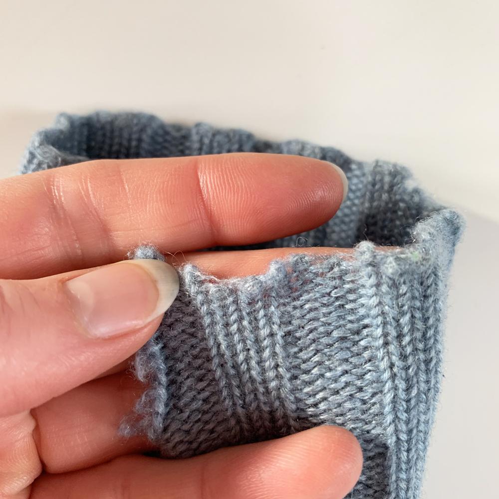Worn edges on the cuff.