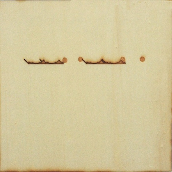 Christine Kettaneh,  mute melody to L dot , laser-engraving on plywood, ed.1/2, 2013.  Exposure 2013, Beirut Art Center.