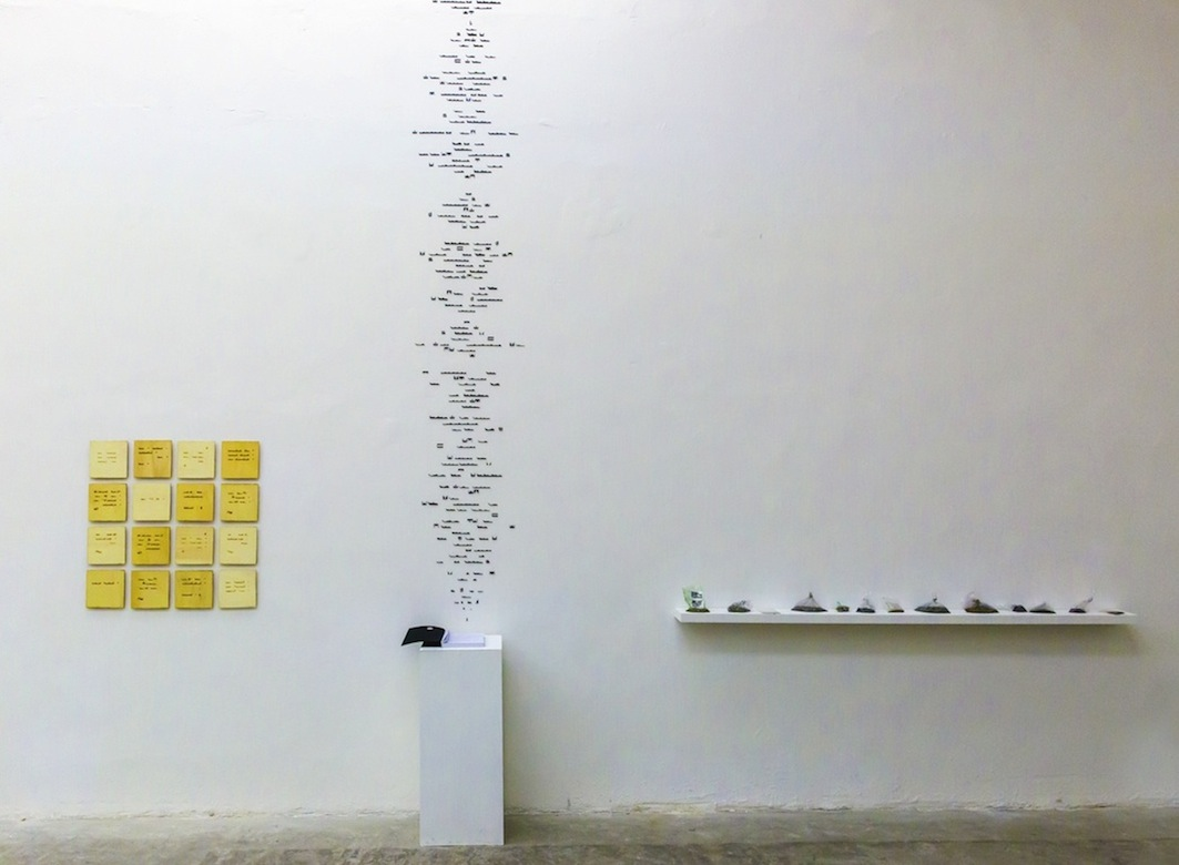 Christine Kettaneh,  mute melodies , installation.  Exposure 2013 , Beirut Art Center.