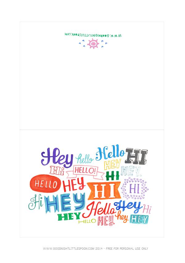 Hi Hello Hey Card