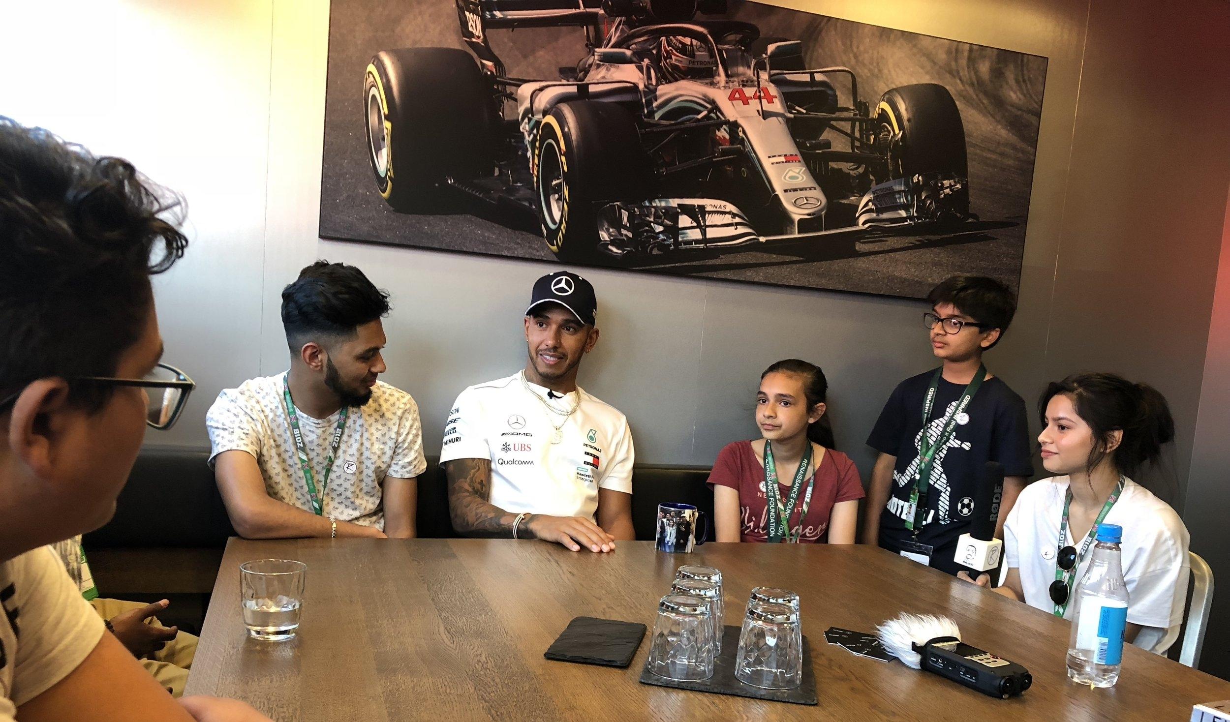 Lewis Hamilton - Youth Charity Talk