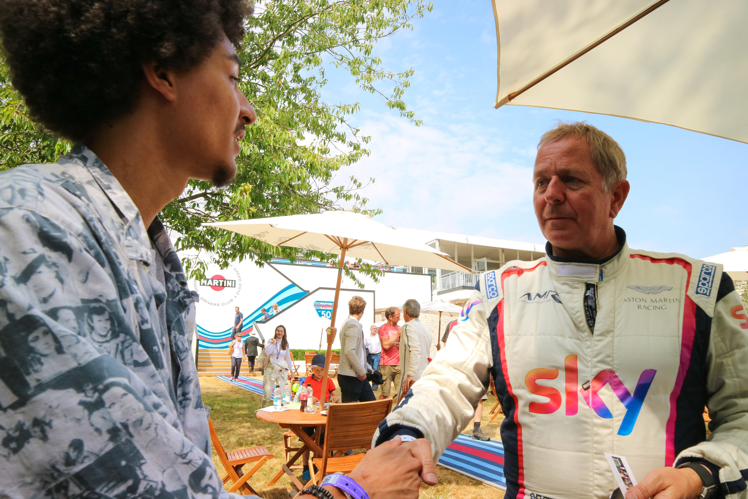 Goodwood Festival with  Martin Brundle