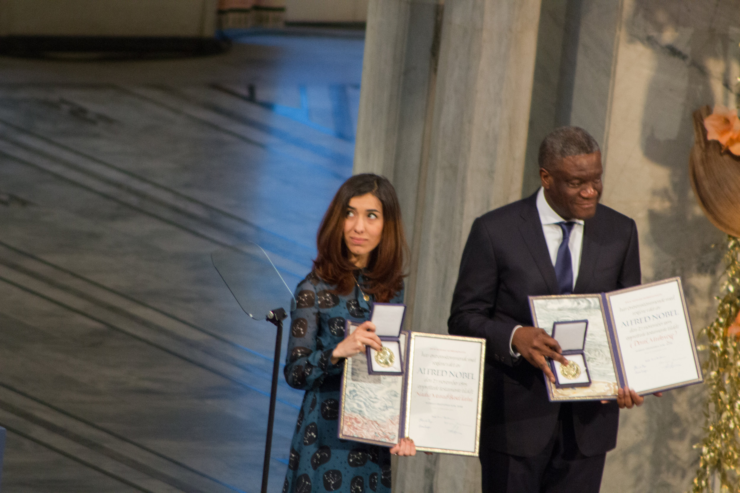 At The Nobel Peace Prize Ceremony