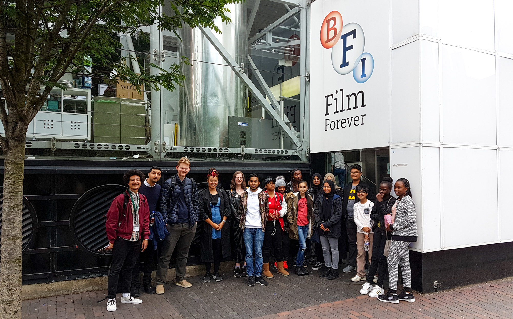 Our Young Leaders attending a workshop on Silent Filmmaking at the BFI in 2018.
