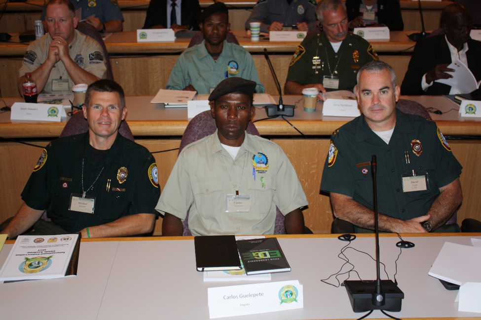 (Left to right) Michael Eastman of New Hampshire, Carlos Guelepete of Angola and David Walsh of New Hampshire are    exploring how they can lead the global charge against illegal wildlife trafficking.