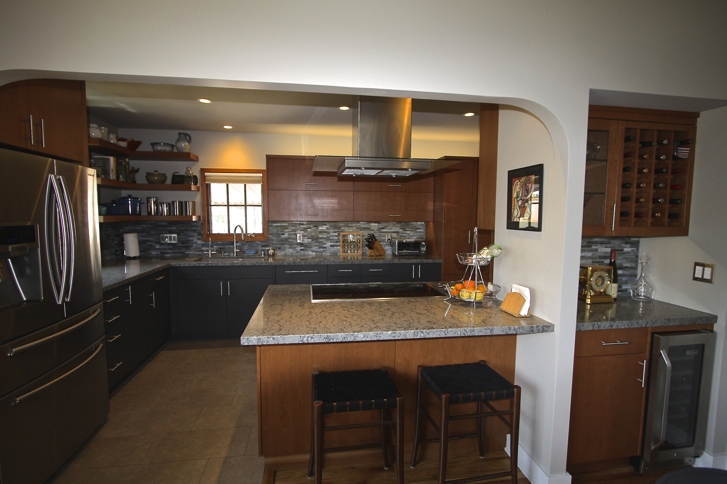 After: The owners both love to cook and bake and they built their dream kitchen to do it in.