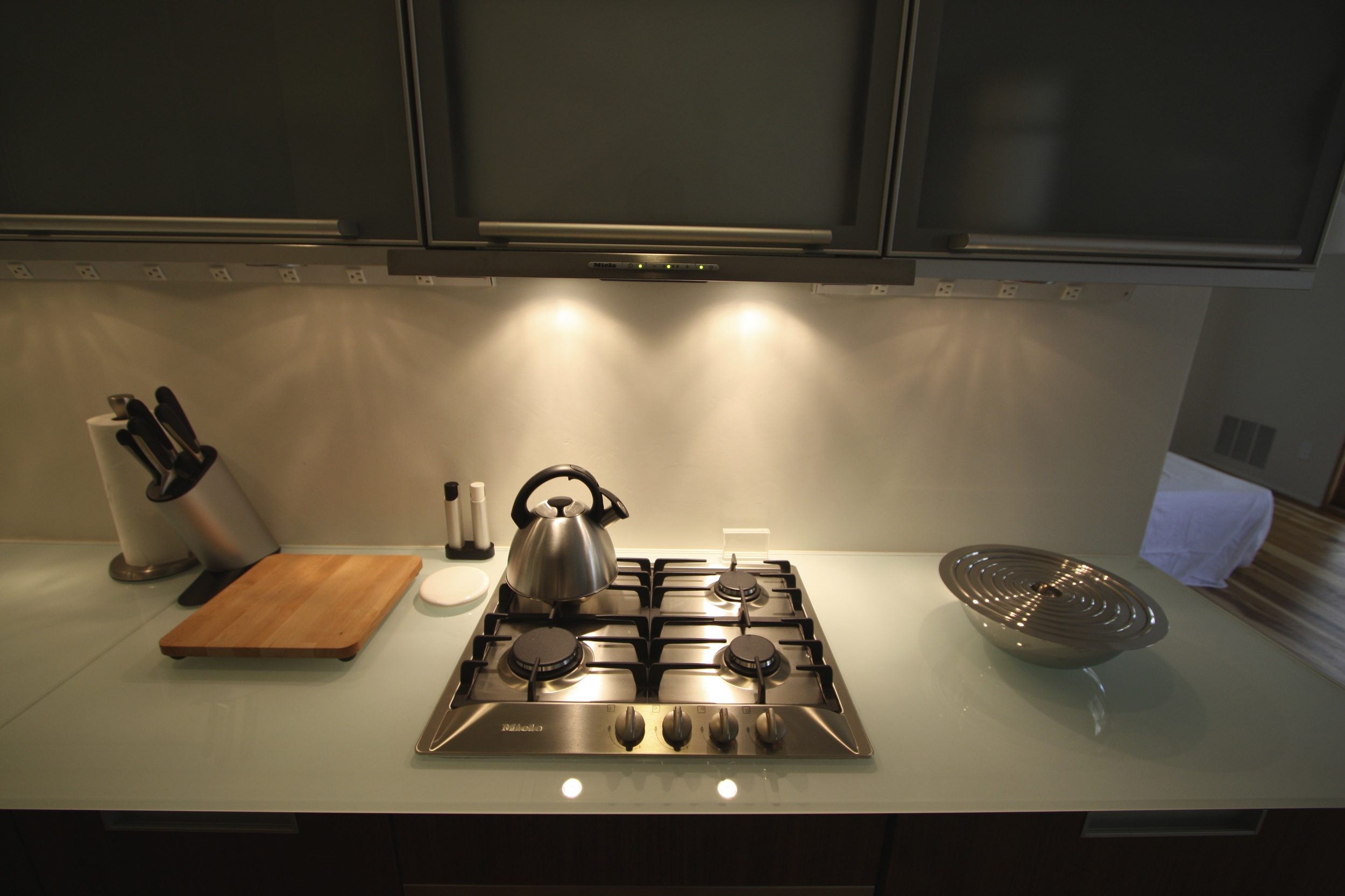 Miele cooktop and vent.