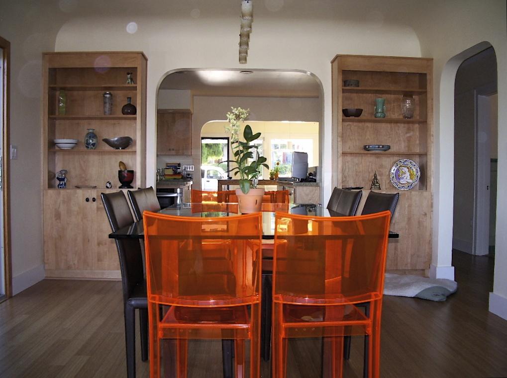 Dining area looking toward kitchen.