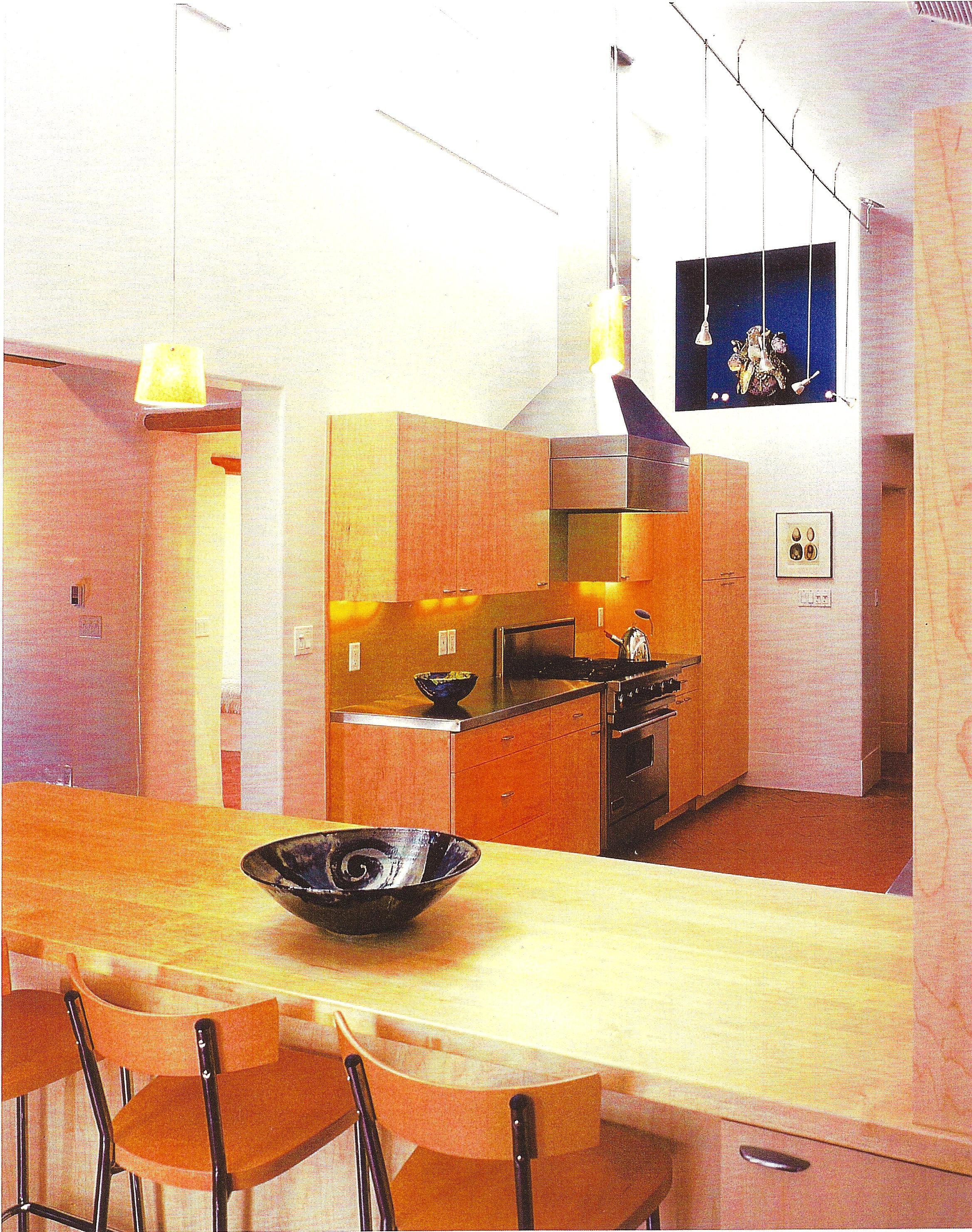 Kitchen and art nook.