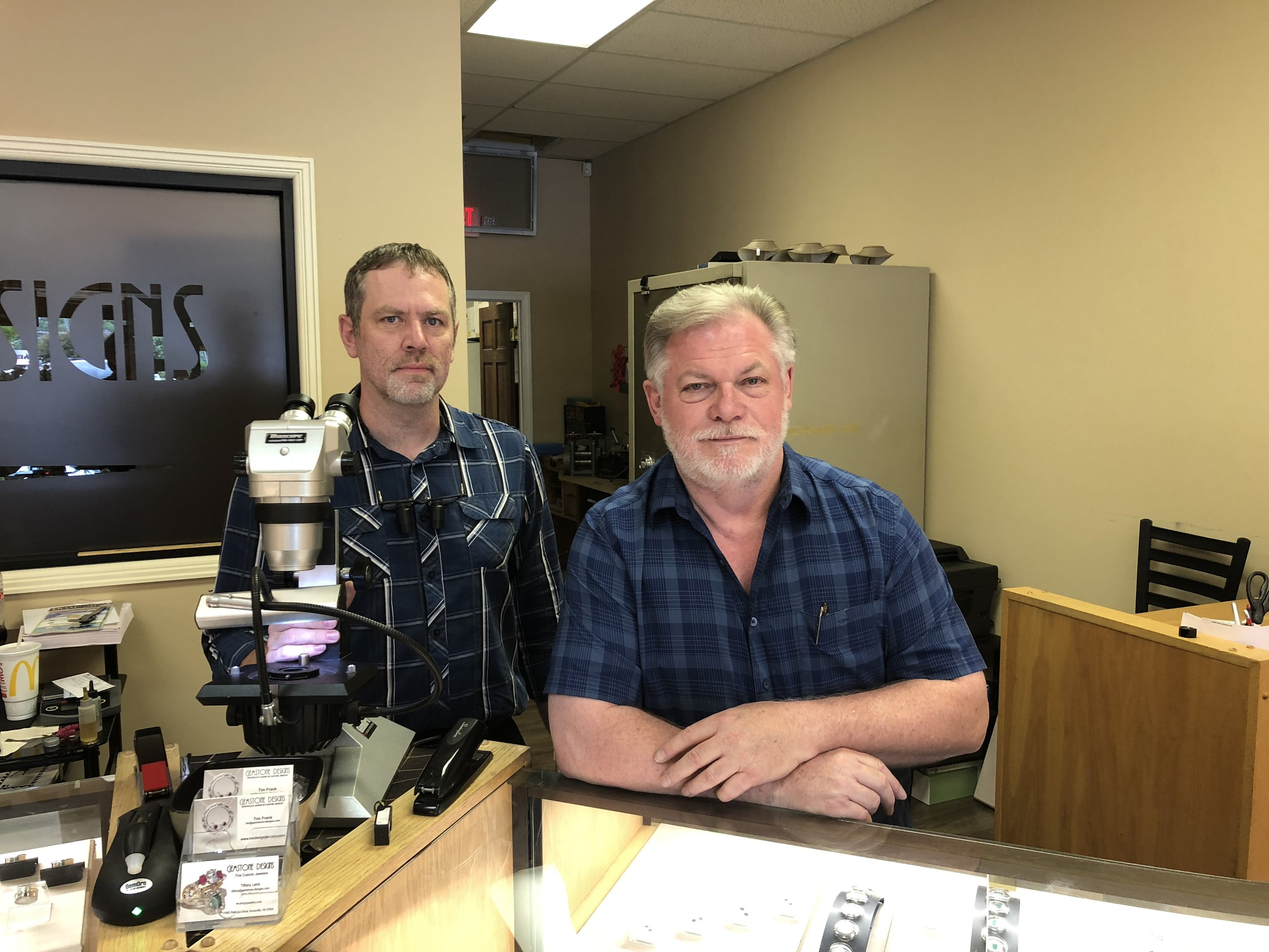 Putting the Top Guy On The Job - Gemstone Designs most prolific and talented CAD designer, Ron Litolff (right), was placed on the job.