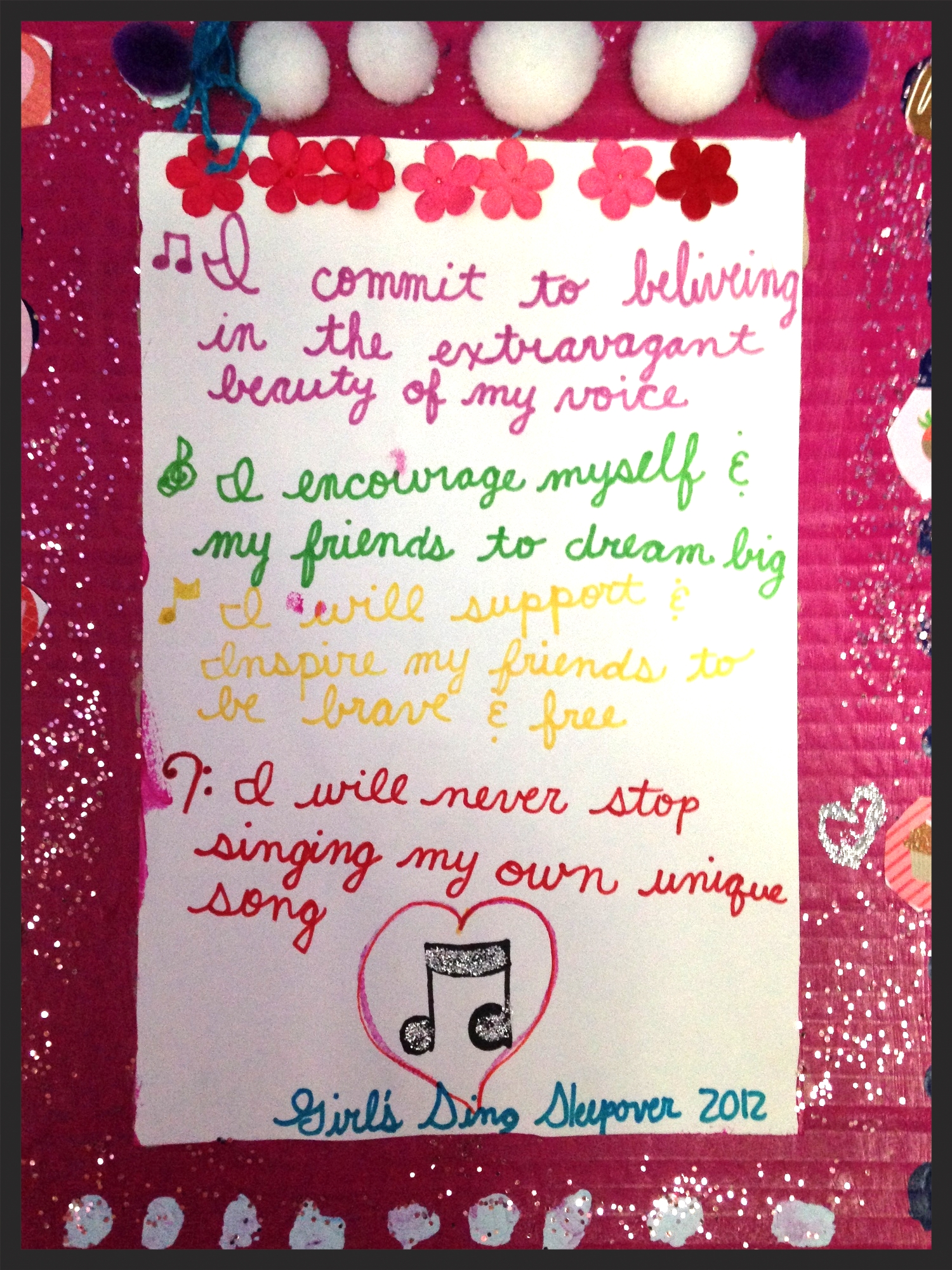 Our Creed, written by the Girls of Girls Up Loud
