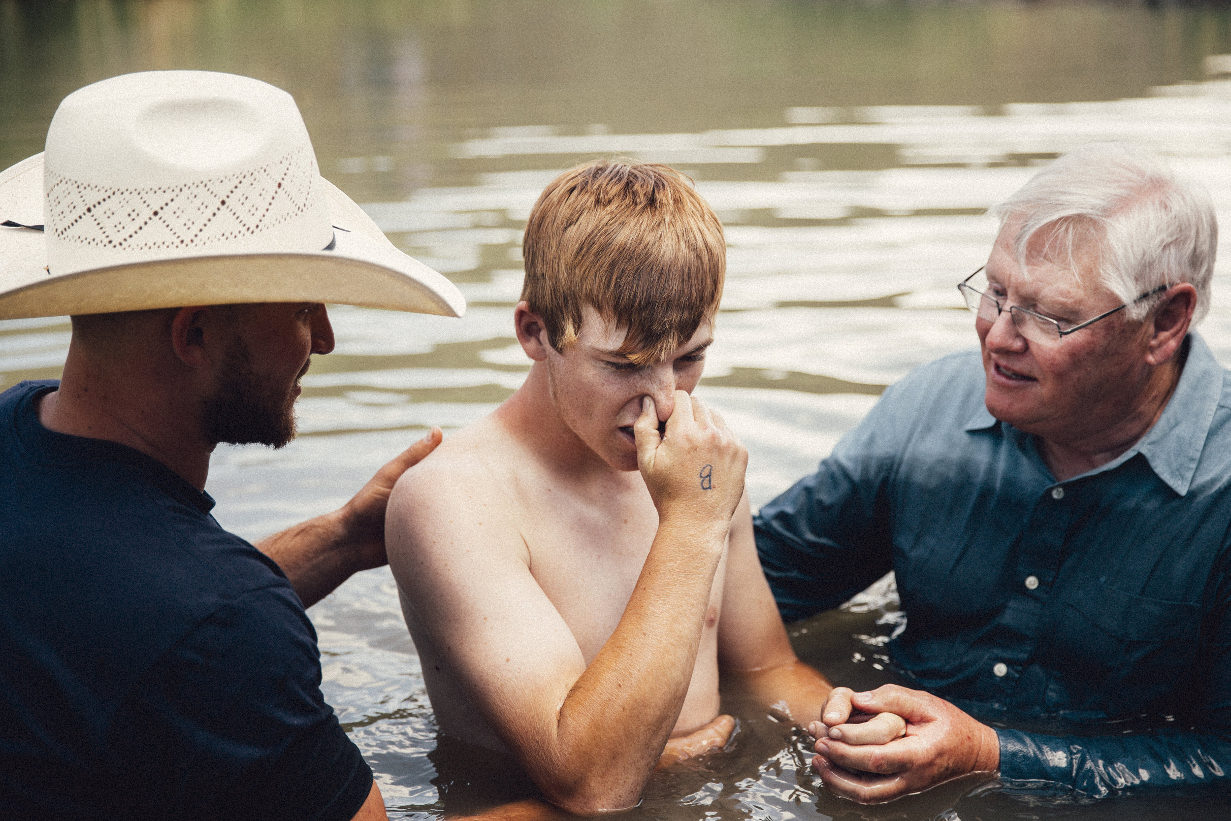 Baptising in the river