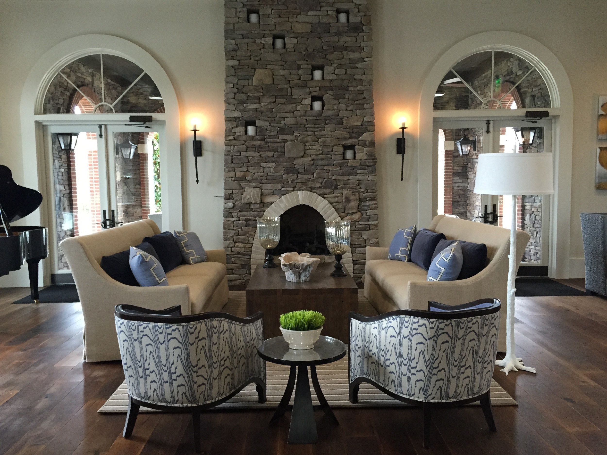Ansana Interior Design Stone Fireplace with Candles.jpg