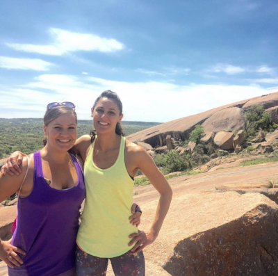 Cancer free, living healthy, hiking with my amazing sister in Texas