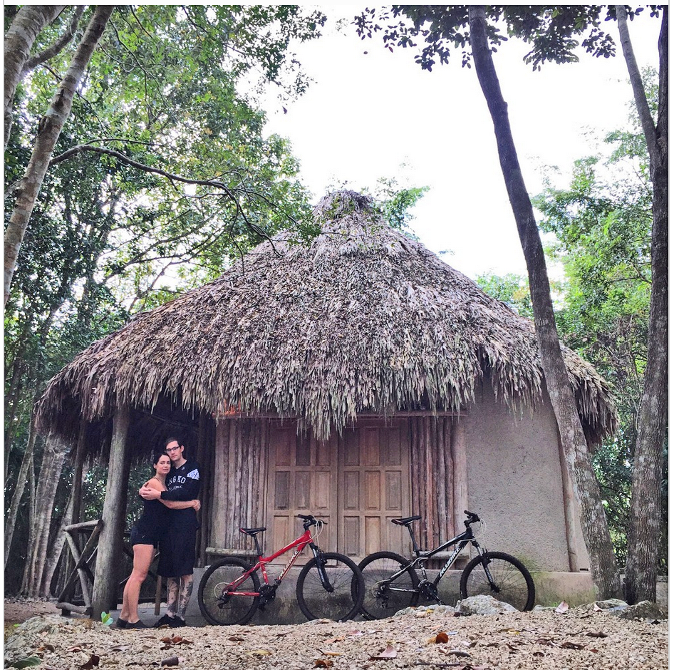 Our bikes and accommodations at Beej Ka'x
