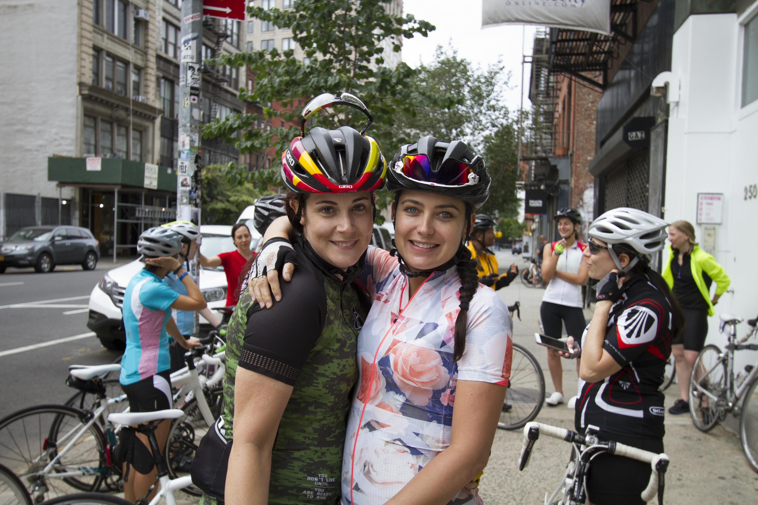 Laura Aguero-Dupla and Anna Maria pre-ride