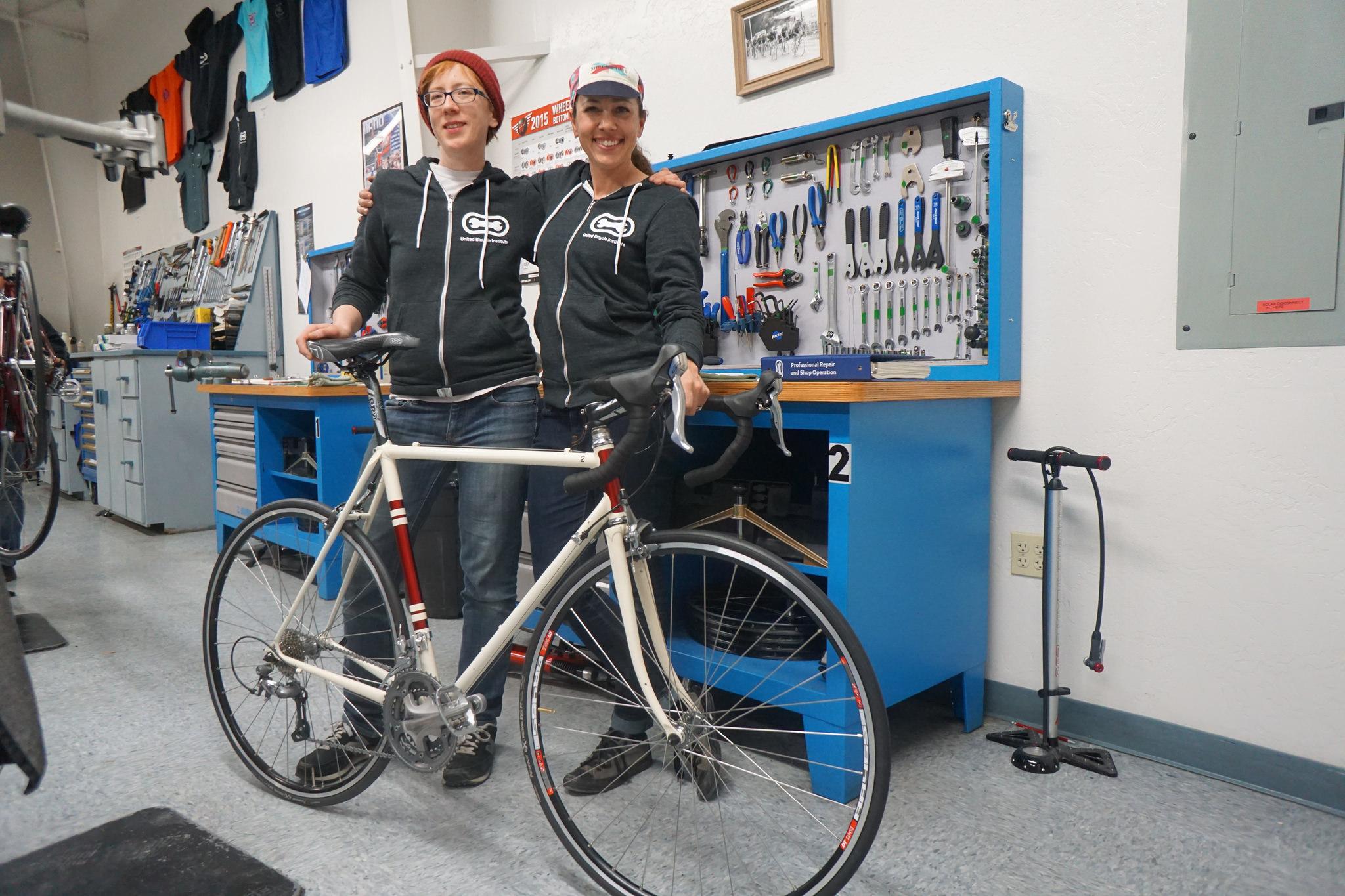 Amanda Resch of Legend Bicycles and Nicole Davison of Veloville USA