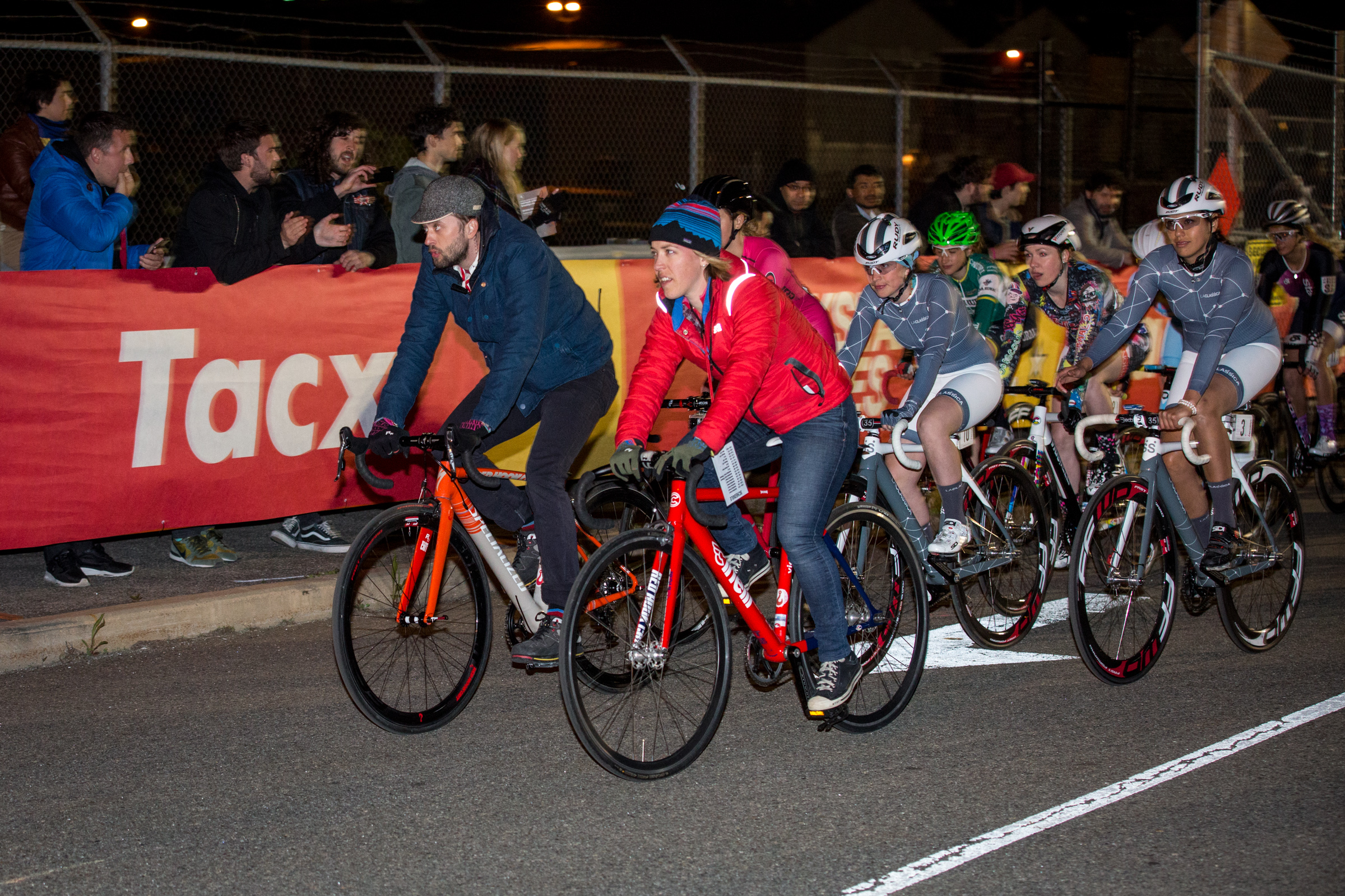 Kacey and David lead the women on a lap at RHC 9, photo courtesy of @Tornanti_cc
