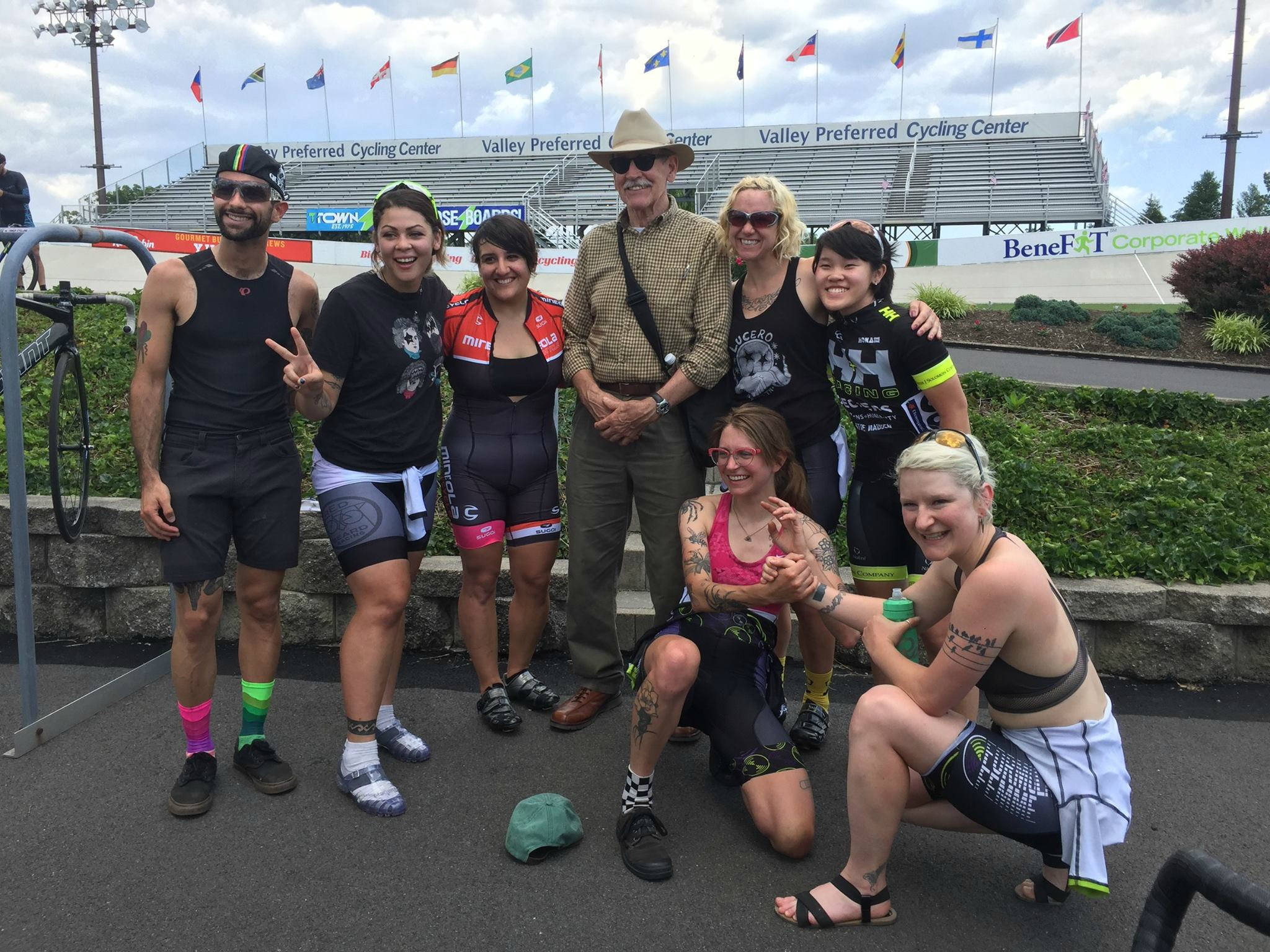 Kissena alumni, including race official Karl!   Photo by Leona Chin Wong