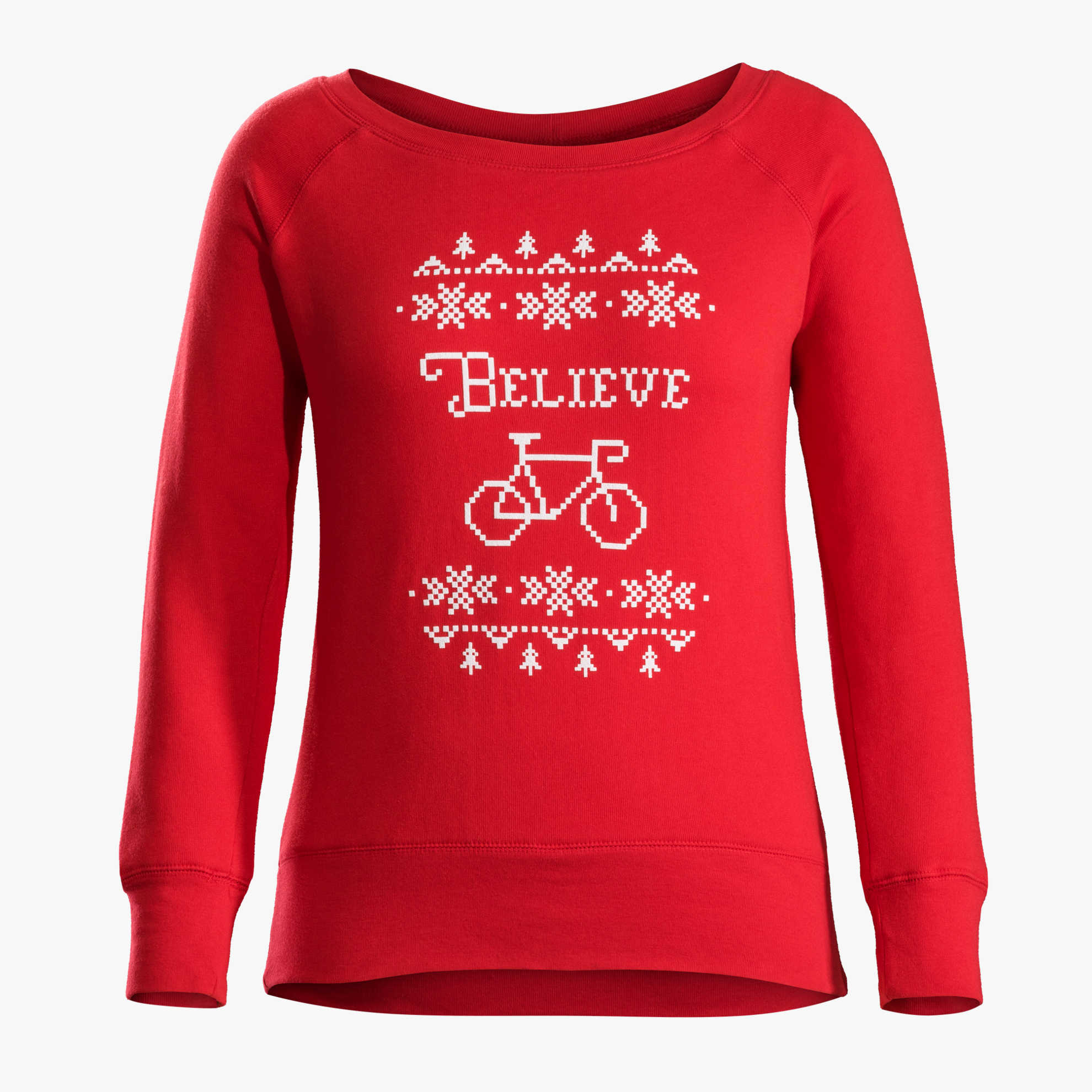 Bontrager Women's Holiday Sweatshirt  Because everyone has a holiday party.  (Price: $39.99, Purchase    here   )