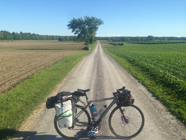 Biking through strawberry fields while eating strawberries that were grown in said fields and sipping a local beer from my handlebar bag.