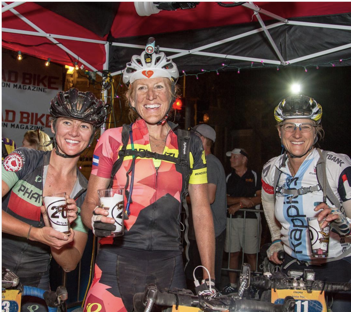 Finishers at the 2017 race.  Photo by Linda Guerrette, Source: @DirtyKanza Instagram.