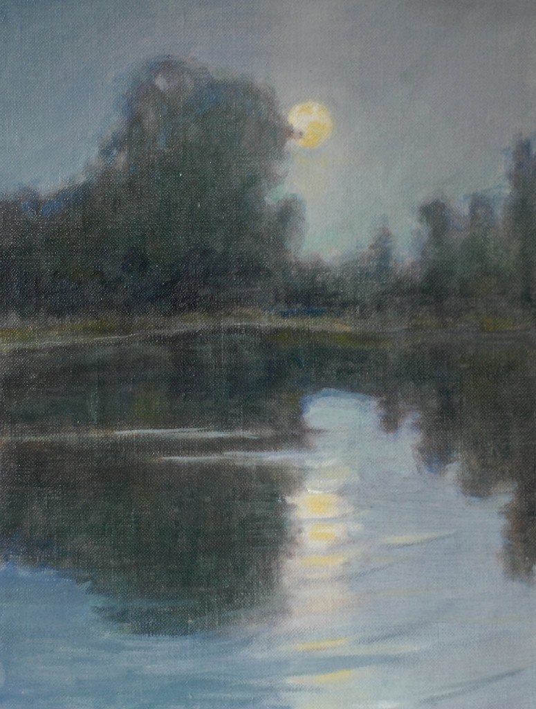 Nocturne (sketch). 8 x 10. Oil on linen panel.