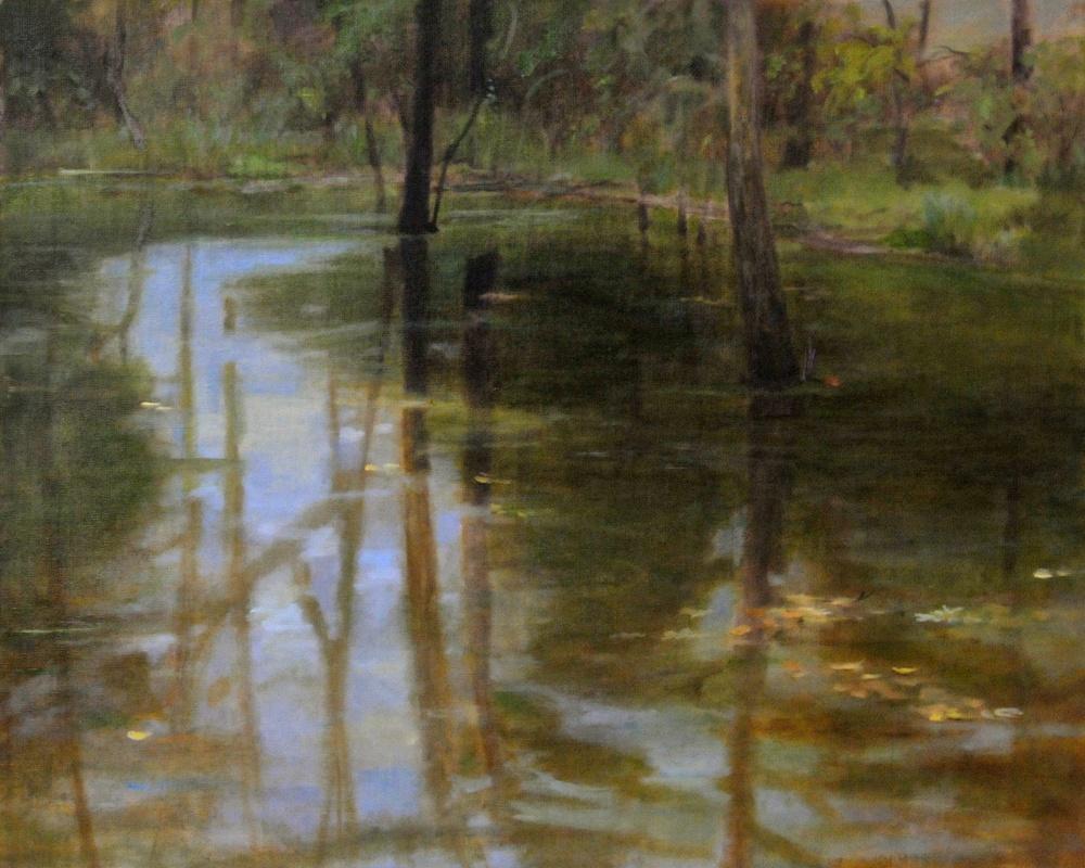 Wild Pond. 16 x 20. Oil on linen panel.