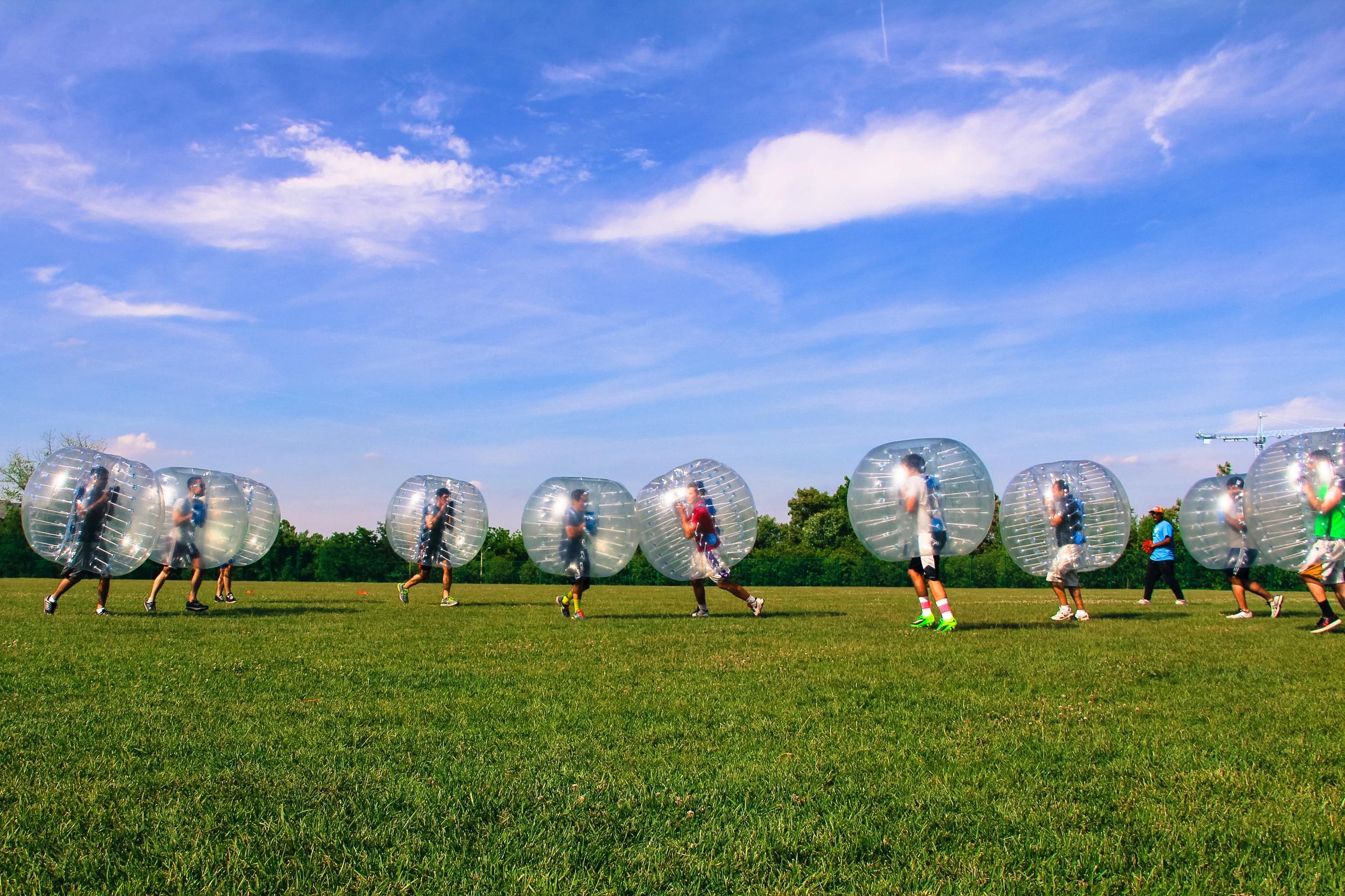 Capital One Bubble Soccer Rental
