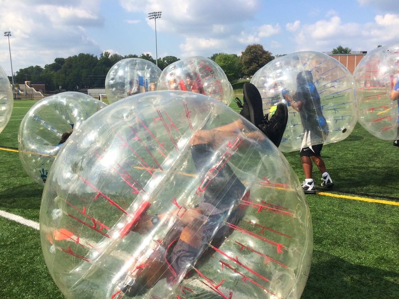 Towson University Bubble Soccer Student Event