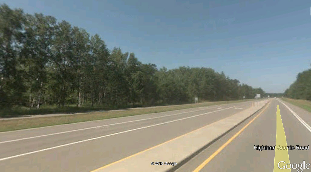 CSAH 48 in Baxter, MN. Image from Google Earth.