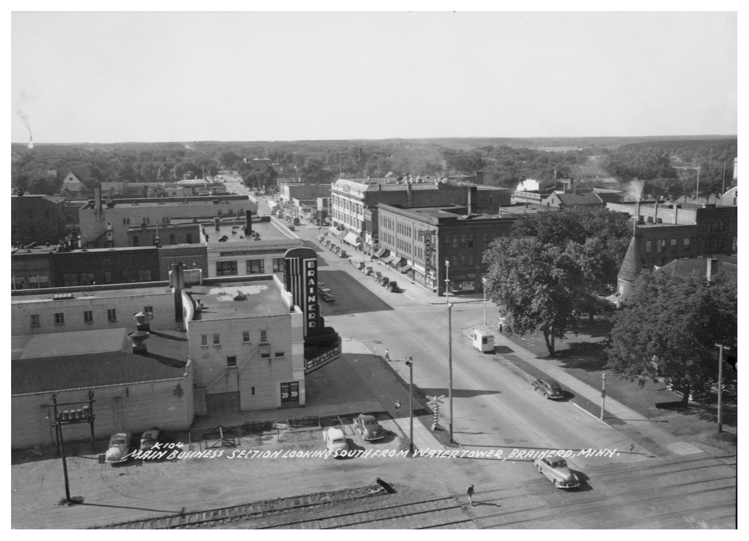 South 6th Street in a prior era. Almost all of the buildings seen in this photo have been demolished to provide parking.