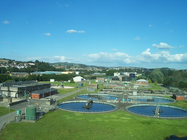 A water treatment plant; this and everything else a city builds needs to be maintained with the wealth of the community.