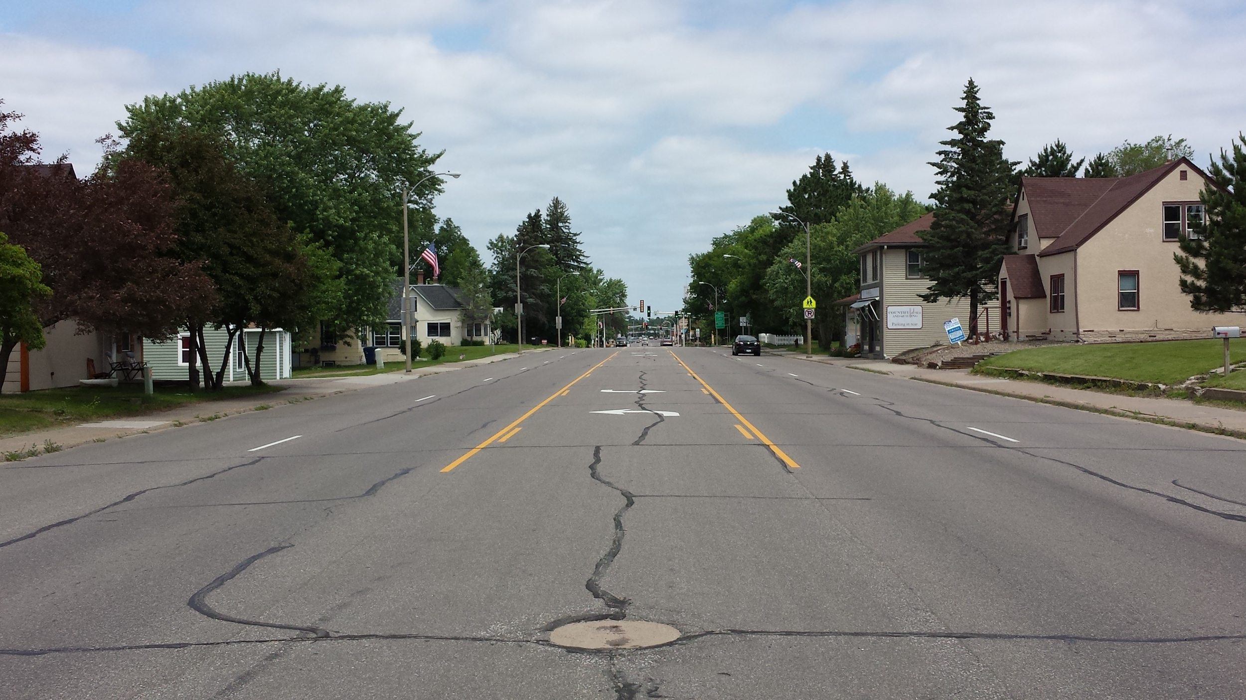 South 6th at noon on July 5, 2014.