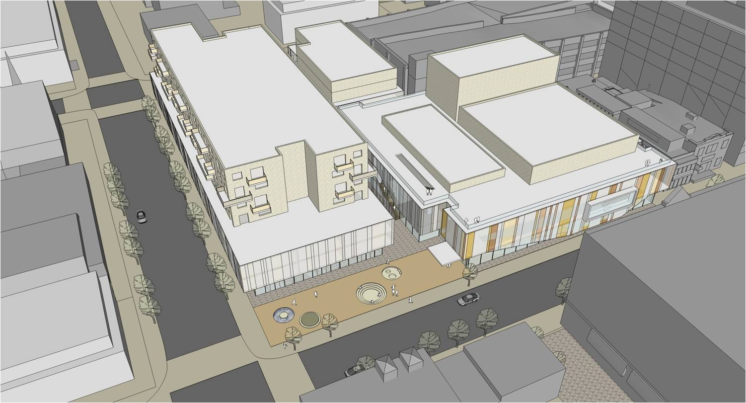An initialrendering of one option for the new Fredericton Playhouse. Click for more info.