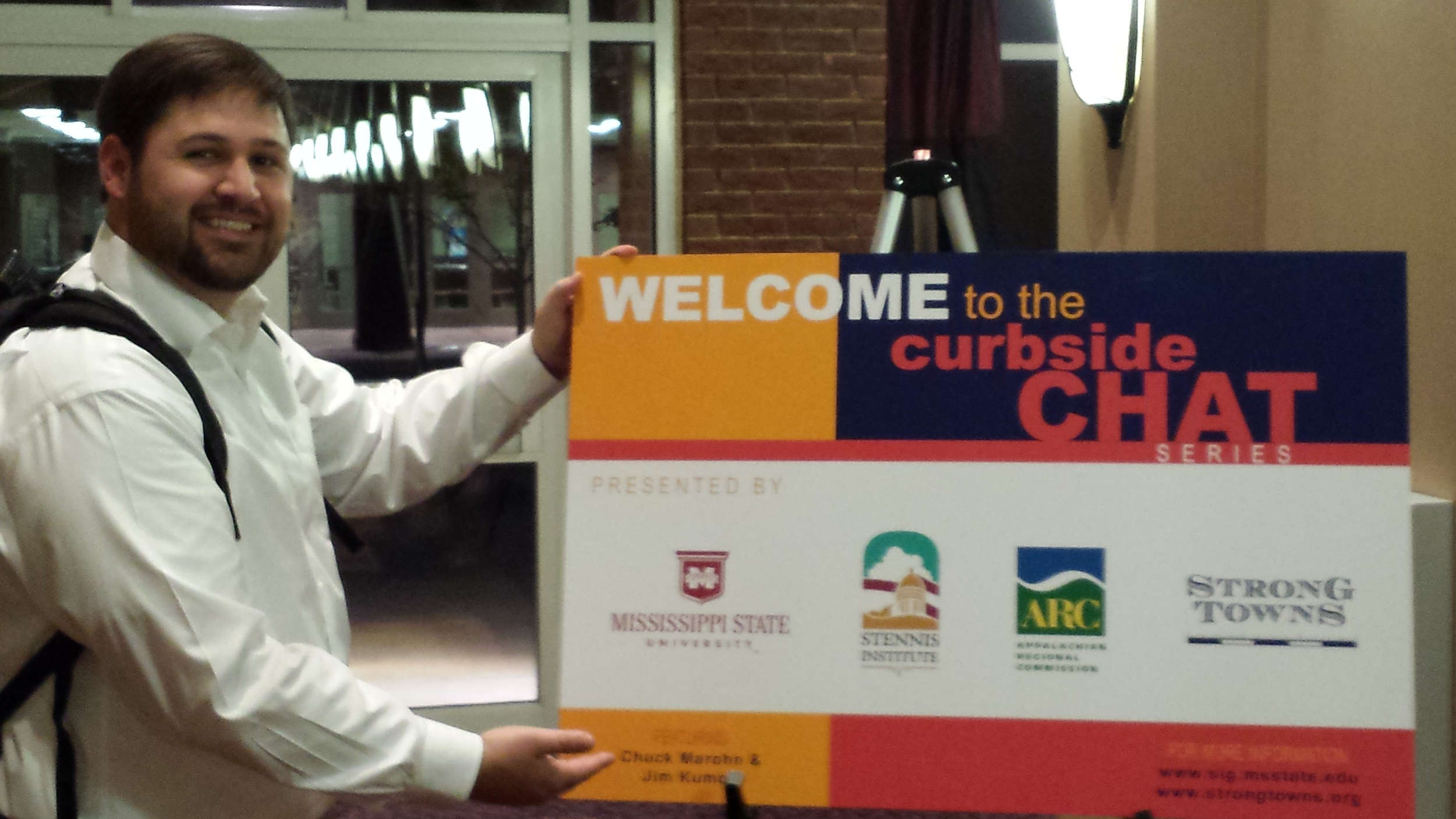 Jeremy Murdock, Mississippi State, kicking off a week of Curbside Chats across the state.