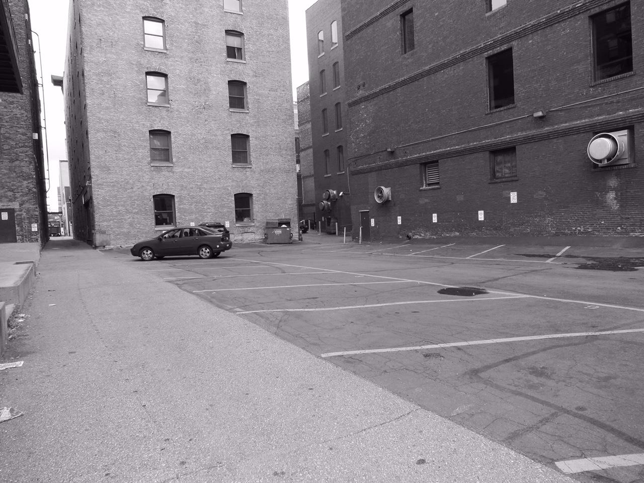 Parking lot in St. Paul's Lowertown