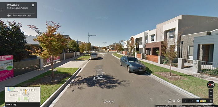 A newer residential development still under construction in the suburb of Northgate, South Australia.