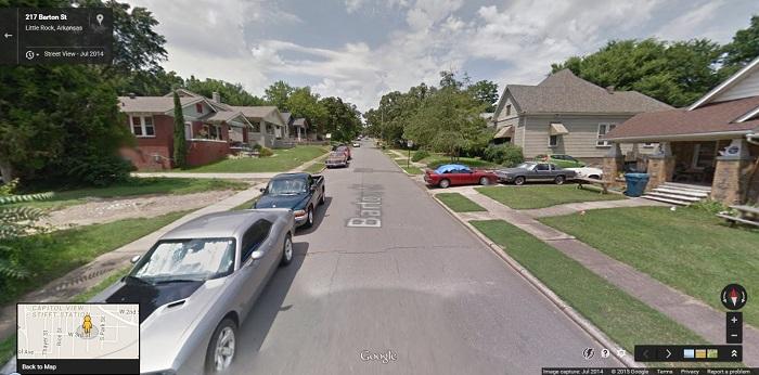 An established inner residential street in Little Rock, Arkansas.