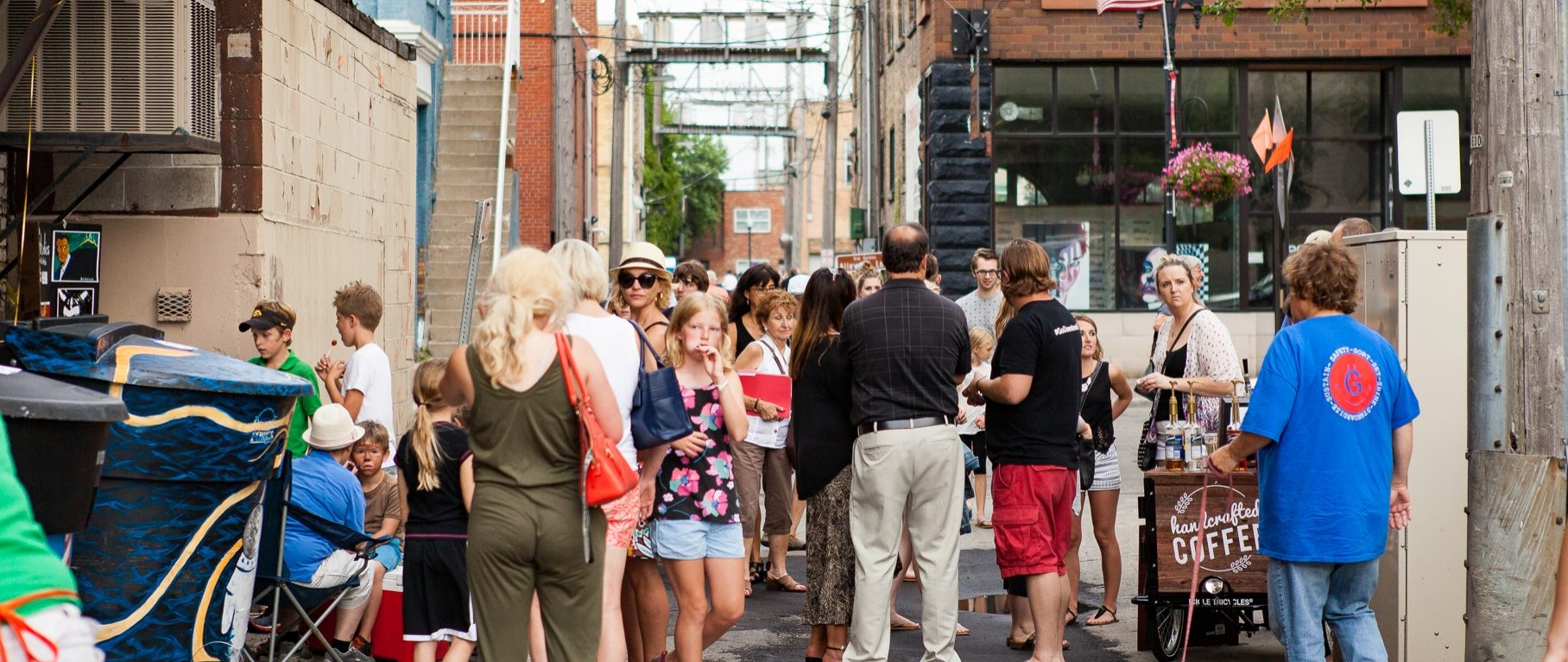 Alley Alive in downtown Grand Forks. Photo credit: John Campbell and Ad Monkeys