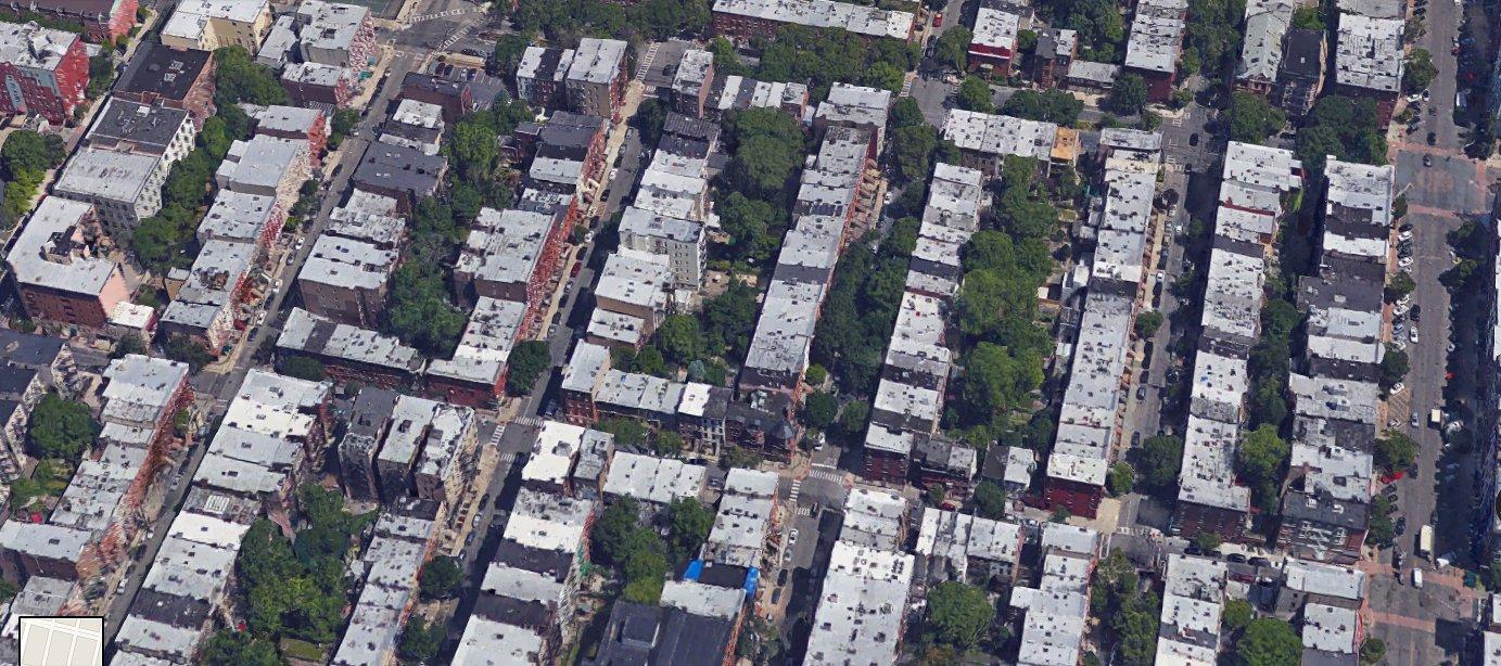 Fine-grained blocks in Hoboken, NJ, averaging around 40 lots per block.