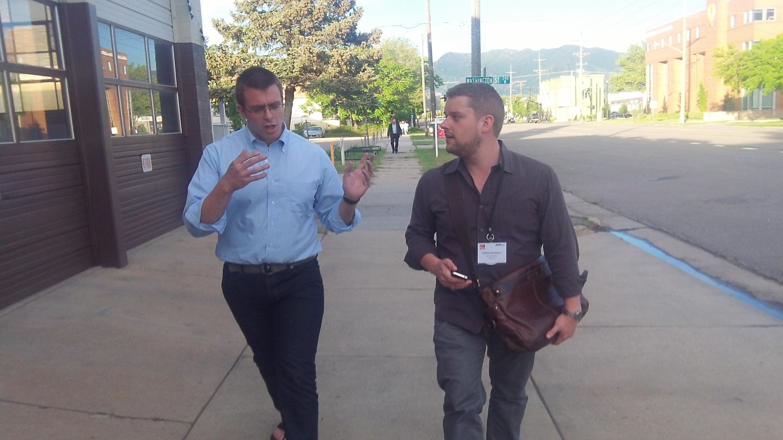 Board members Ian Rasmussen (left) and Andrew Burleson