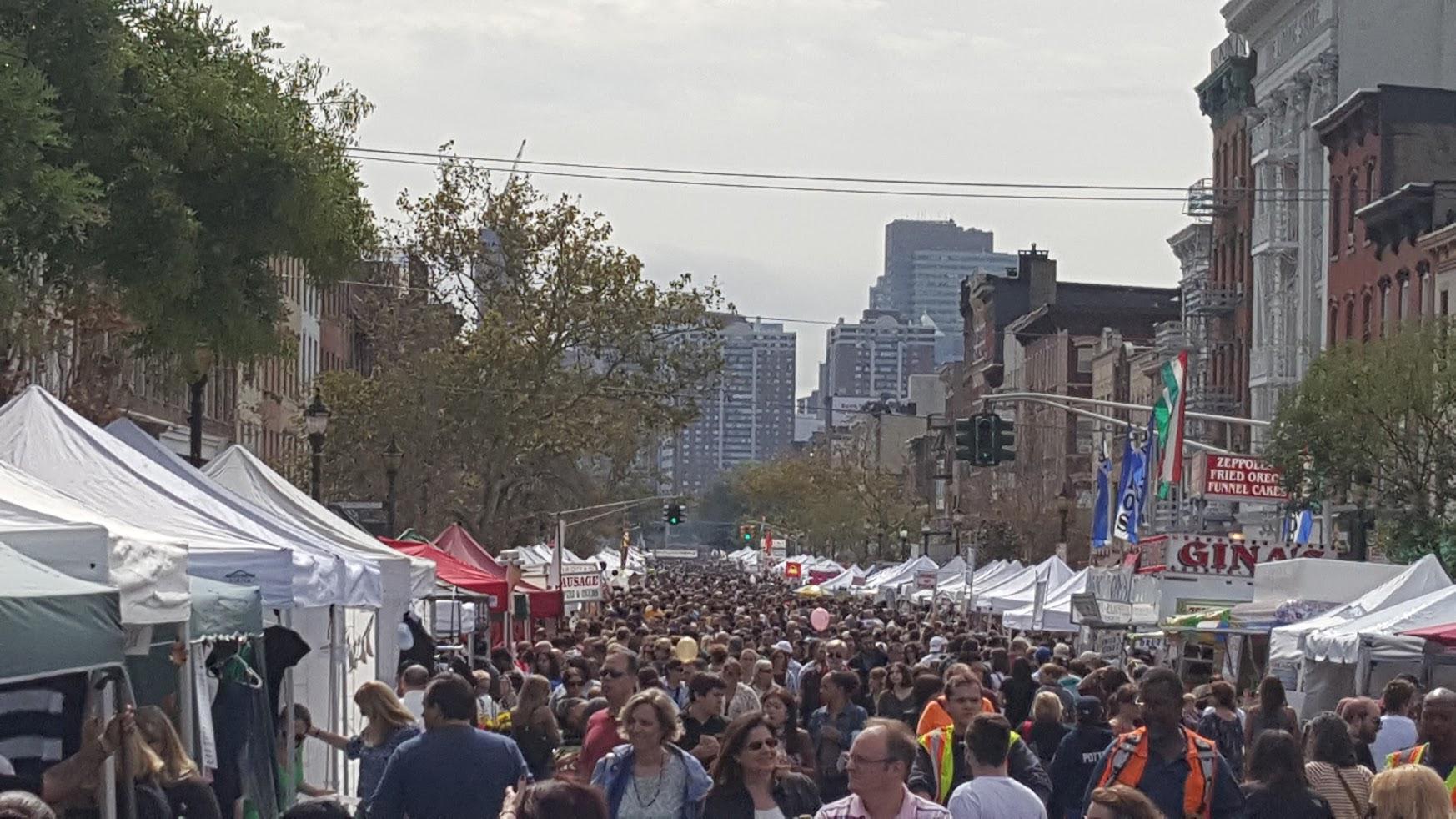 Washington Street during the Hoboken Arts and Music Festival.