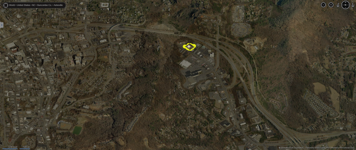 Buffalo Wild Wings area. Image from Bing Maps.
