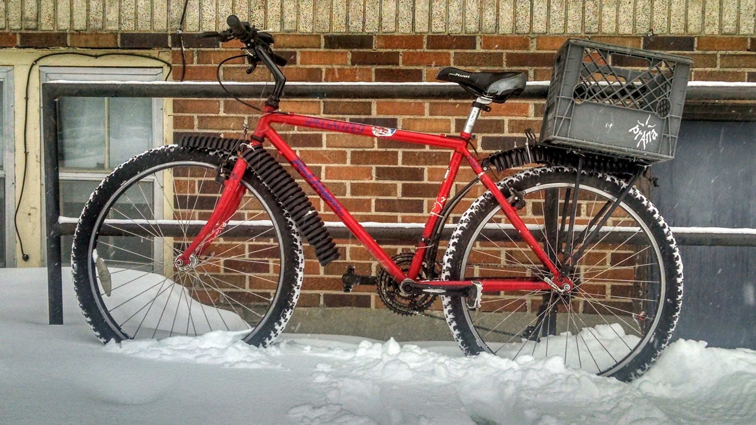 The low-budget approach to winter riding