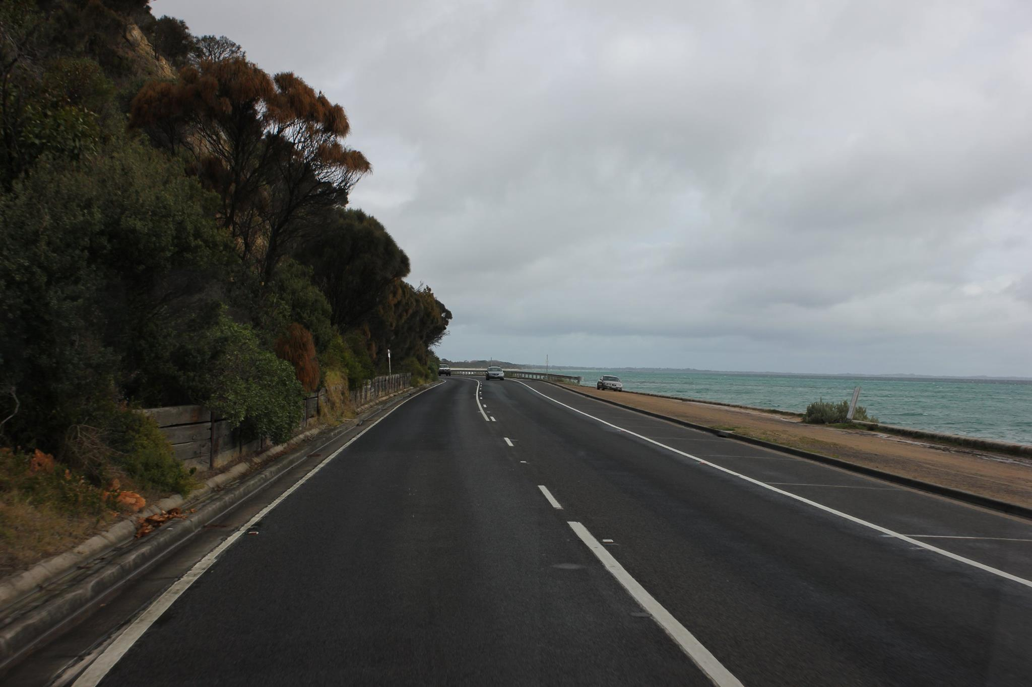 A coastal road near Ballarat, Victoria.