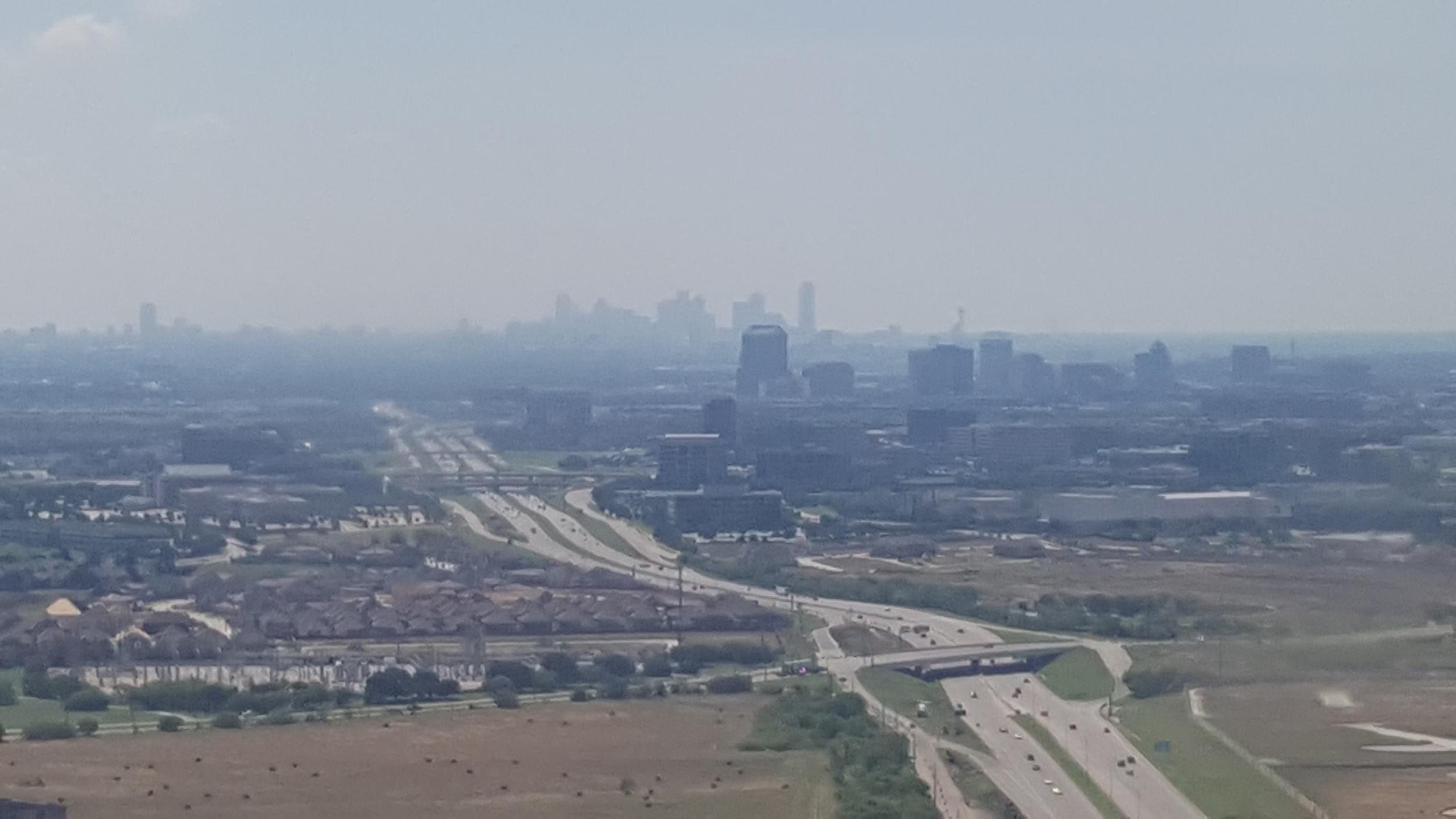 A freeway in the Dallas area.